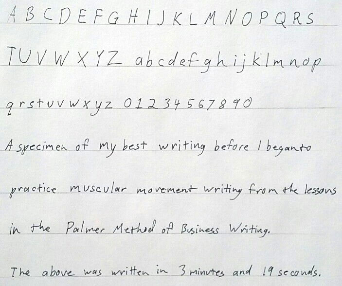 Handwriting Before