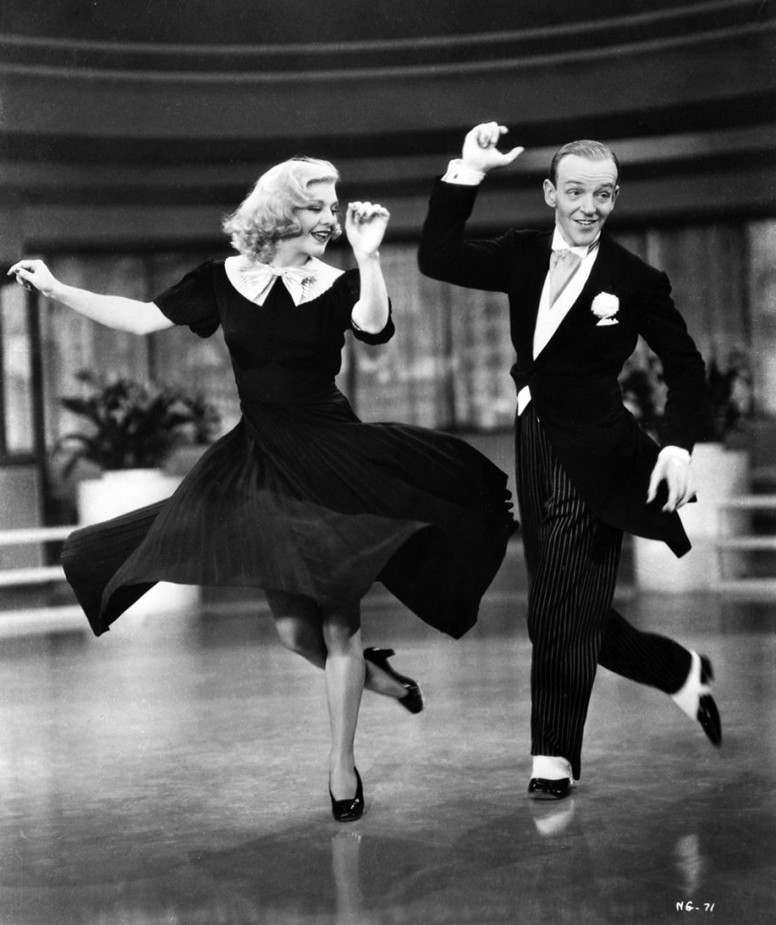 Ginger Rogers and Fred Astair Tap Dancing