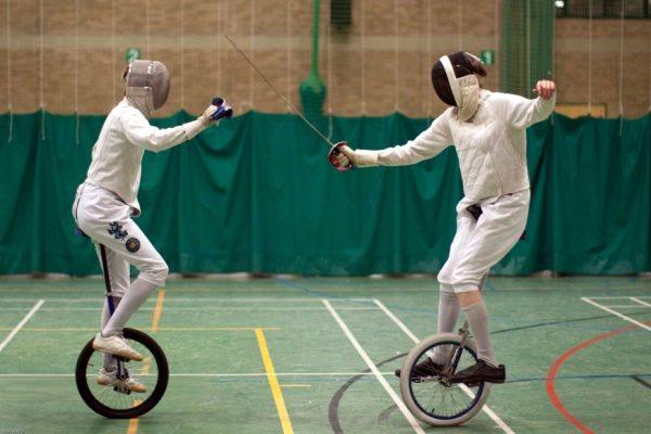 Unicycle Fencing